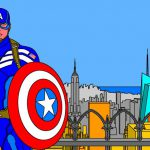N° 1 : 2018 - New York City - Captain America - Hommage à Kirby