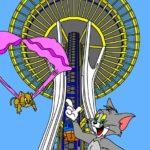 N° 10 : 2017 - Seattle _ Tom et Jerry - Hommage à Hanna Barbera