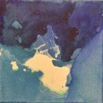N° 11 - Pensées en eaux troublantes (2/4) 20 x 20cm