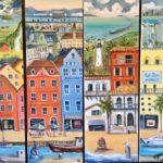 N° 1-2-3-4  ( 541 - 542 - 543 - 544)  Mosaïque Norvège Copenhague Miami